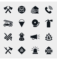 Fire fighter icons vector image vector image
