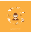 flat elements of support vector image vector image