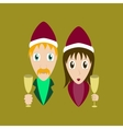 flat on background of man woman wine vector image vector image