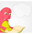 Funny Monster Reading vector image vector image
