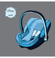 hand drawn baby seat for infant in vector image