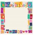 Happy Birthday decorative border vector image vector image