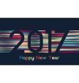 Happy New Year 2017 background Calendar vector image vector image