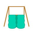 isolated playground slide equipment vector image