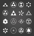 Japan religious symbols sacred geometry set vector image