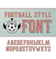 label font Football style vector image vector image