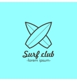 Logo for the surf club vector image
