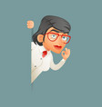 look out corner female professor expert scientist vector image vector image