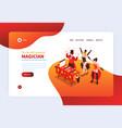 magicians show landing page vector image