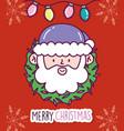 merry christmas celebration santa claus face vector image