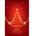 Merry christmas winter background vector image vector image