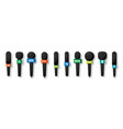 microphones collection realistic microphone vector image