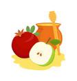 pomegranate apple and honey pot