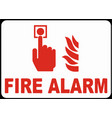 press for fire alarm sign eps vector image vector image