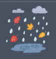 puddle in rain cloud vector image vector image