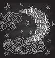 Romantic quote Make a wish say good night vector image vector image