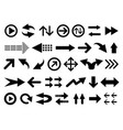 set arrow shapes isolated on white vector image vector image