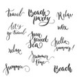 set lettering relax party summer isolated vector image vector image