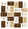 Set of business cards with sketches of people icon vector image vector image