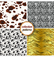set of seamless patterns of tiger skins zebra vector image vector image