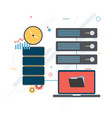 shared data download files safely design vector image