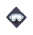 snowboard glasses logo design symbol stock vector image vector image