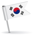 South Korea pin icon flag vector image vector image