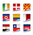 Sticker flags vector image vector image