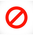 stop warning red symbol template vector image vector image