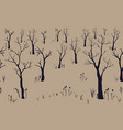 trees winter christmas landscape background with vector image vector image