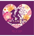 warm summer plants couple on tandem bicycle vector image vector image