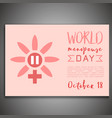world menopause day vector image
