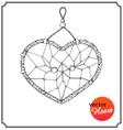 Ethnic dreamcatcher in form of heart vector image