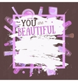 glamorous make up frame You are beautiful vector image