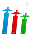 Set of labels with airplanes for aviation company vector image