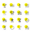 16 championship icons vector image vector image
