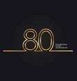 80 years anniversary vector image vector image