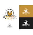automobile car repairing logo mechanic vector image vector image