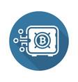 bitcoin safe box icon vector image vector image