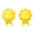 blank gold rosettes vector image vector image