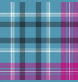 blue pink check plaid seamless pattern vector image