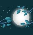 cartoon sunset flat trees leaf moon and night vector image vector image