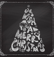 Chalk We Wish You a Merry Christmas tree design vector image vector image