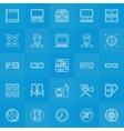 Cinema line icons set vector image