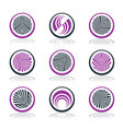 circle design elements vector image vector image