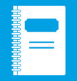 closed spiral notebook icon white vector image vector image
