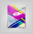 colorful cover design eps10 vector image