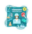 coronavirus epidemic prevention medical poster vector image