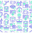eco smart house seamless pattern vector image vector image