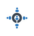 employee recruitment icon vector image vector image